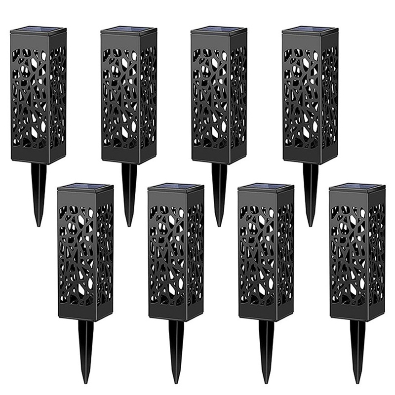 8 шт. светодиодный водонепроницаемый светильник на солнечной батарее для сада, двора и двора, белый светильник