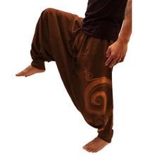 Мужские брюки, модные этнические комбинезоны с принтом, повседневные свободные спортивные штаны с карманами для йоги и работы, повседневные брюки, брюки для осени и зимы, мужские брюки
