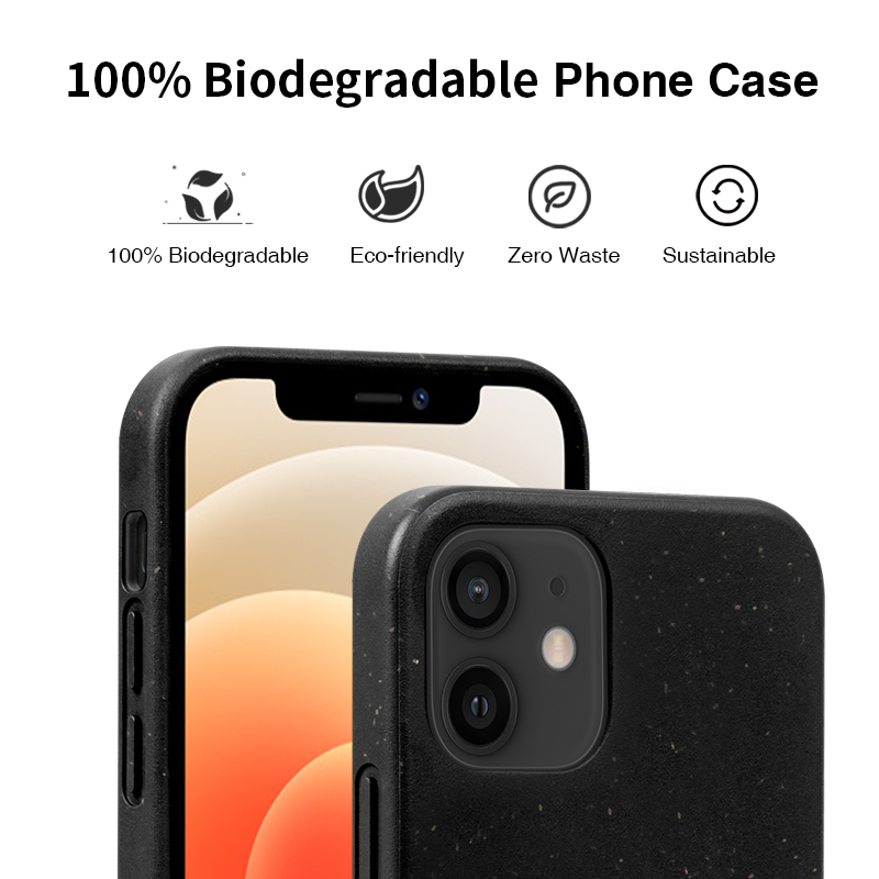 Eco Friendly Biodegradable Phone Case for iPhone 12 Pro Max Cell Mobile Phone Case