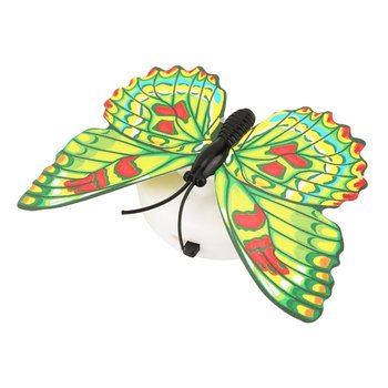 Hot Colorful Changing Butterfly Led Night Light Lamp Home Room Wedding Party Desk Wall Decor With Suction Cup Children Gifts image