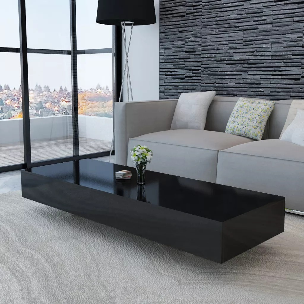 VidaXL Coffee Table High Gloss Black 244023