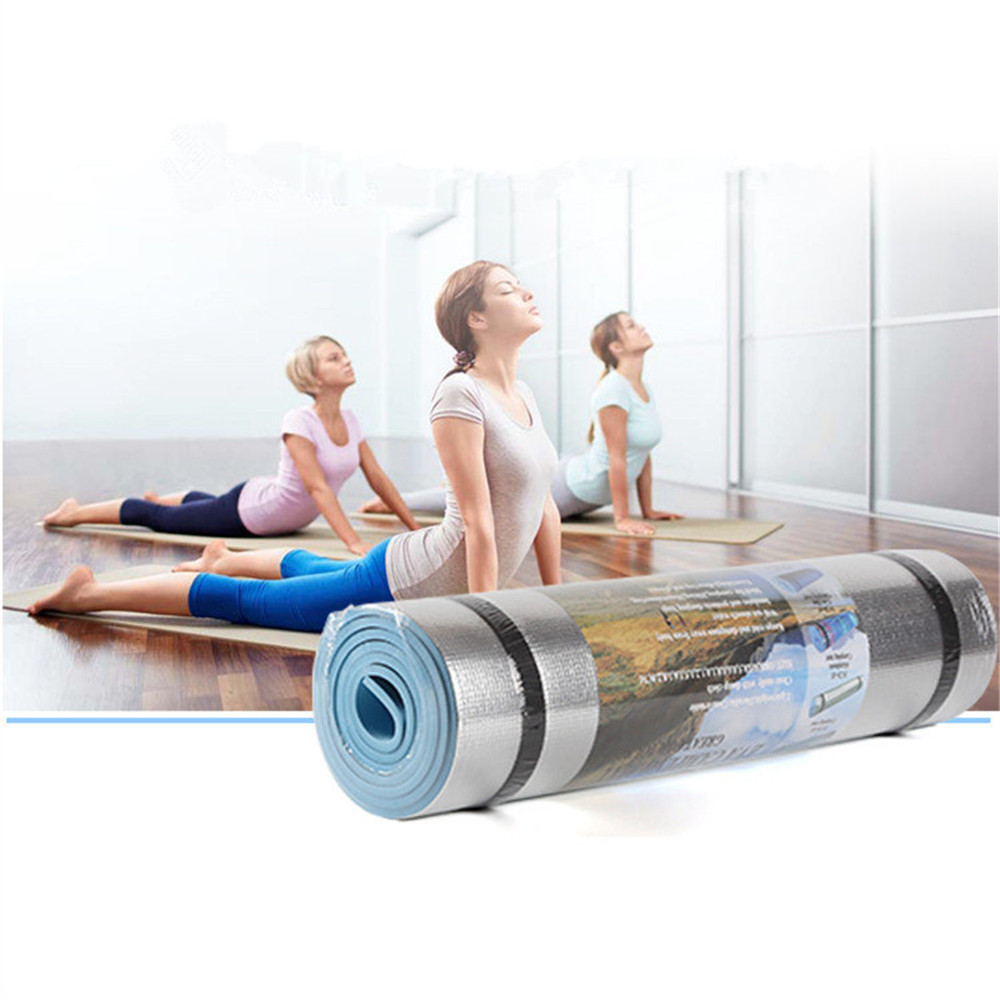 Yoga Mat Sports Aluminum Film Moisture-proof Yoga Mat Workout Exercise Gym Fitness Pilates Pad Shaping Tool colchoneta ejercicio