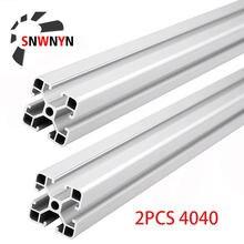 2 шт 4040 алюминиевый профиль европейского стандарта анодированная