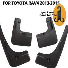 4 Pcs Set for toyota rav4 2013-2015 Molded Mud Flaps Mudflaps Splash Guards Front Rear Mud Flap Mudguards Fender YC101075