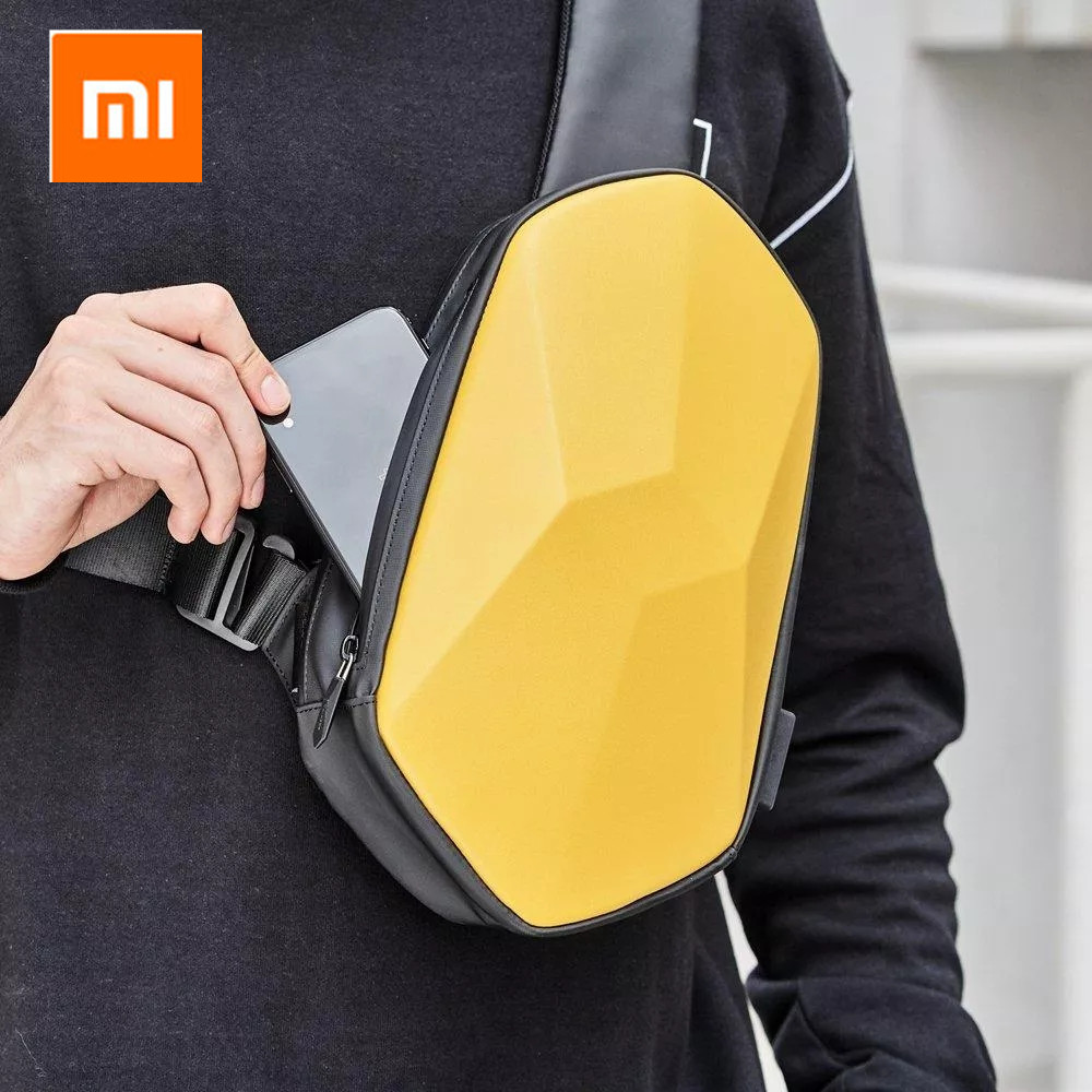 Xiaomi Tajezzo Beaborn PU Backpack USB Bag Waterproof Colorful Leisure Sports Chest Pack Bags For Mens Women Travel Camping