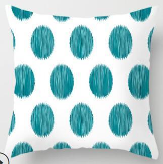 Ng21a bleu turquoise marron à rayures lin Coussin Housse//taie d/'oreiller taille personnalisée