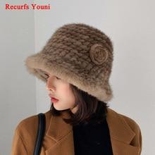 Fisherman Hats Fur-Hat Sweet-Basin-Caps Flowers Streetwear Knitted Korean Winter Women