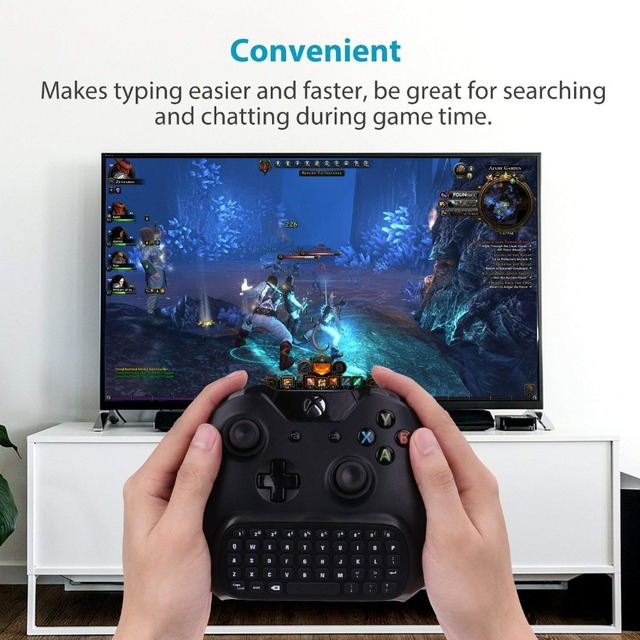 For Xbox One S Chatpad Mini Gaming Keyboard Wireless Chat Message KeyPad with Audio/Headset Jack for Xbox One Elite & Slim Gam 6