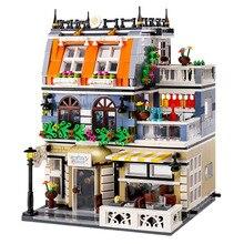 Toy Bricks Building-Blocks Architecture-Model Garden City Streetview-Series DIY Children