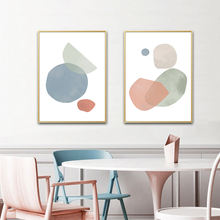 Абстрактная форма постер Геометрическая настенная Картина на
