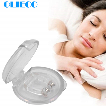 Анти храп прозрачный силиконовый магнитный зажим для носа портативный мини Храп Пробка устройство для рта HIVOX Antrum удар быстрое действие