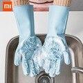 XIAOMI JORDAN & JUDY Magie Silikon Reinigung Handschuhe Küche Schäumenden Wärme Isolierung Handschuhe Topf Pan Ofen Fäustlinge Kochen Handschuhe-in Smarte Fernbedienung aus Verbraucherelektronik bei