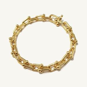 Image 2 - を高品質uはバングルローズゴールド色ビジューブレスレット女性と男性のファッションジュエリーDJ1400