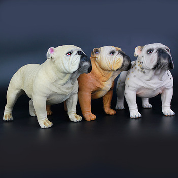 one piece real life dog model plastic Bulldog doll gift about 18.7x9.4x12.5cm xf2776