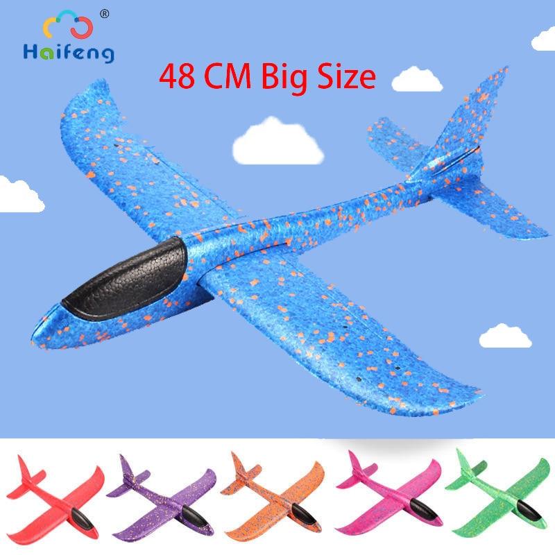 48cm Hand Launch Throwing  Glider EPP Foam Aeroplane Model Flying Glider Airplane Toy Children Outdoor Flaying Glider Toys Plane