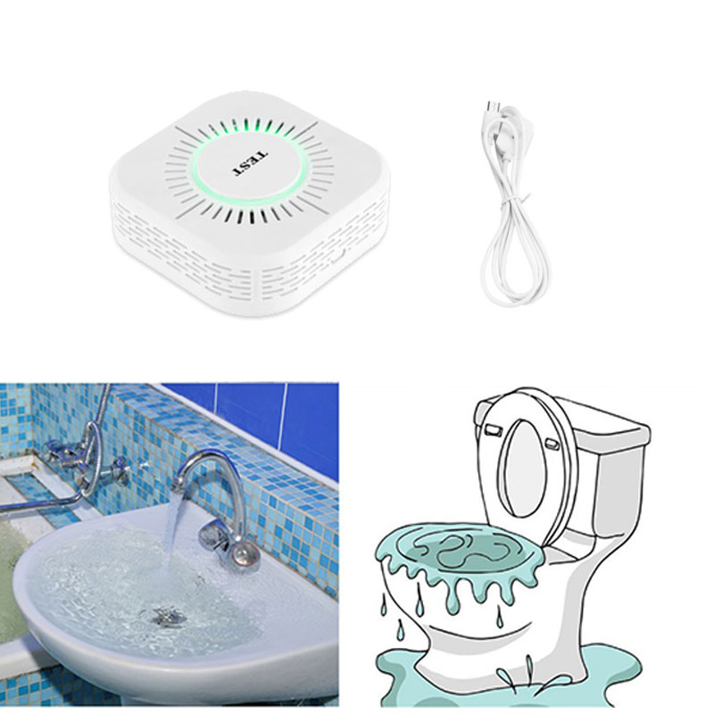 Water Leakage Alarm Sensor Overflow Detector 433MHz Wireless Water Leak Detector Sensor Alarm For Home Bathroom Toilet