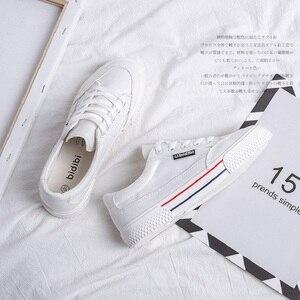 Image 5 - SWYIVY Bianco Scarpe Da Donna Scarpe Da Tennis Della Piattaforma Scarpe di Tela 2020 Nuova Primavera Femminile Scarpe Causale Scarpe Da Ginnastica Nere Sulla Piattaforma Tacco