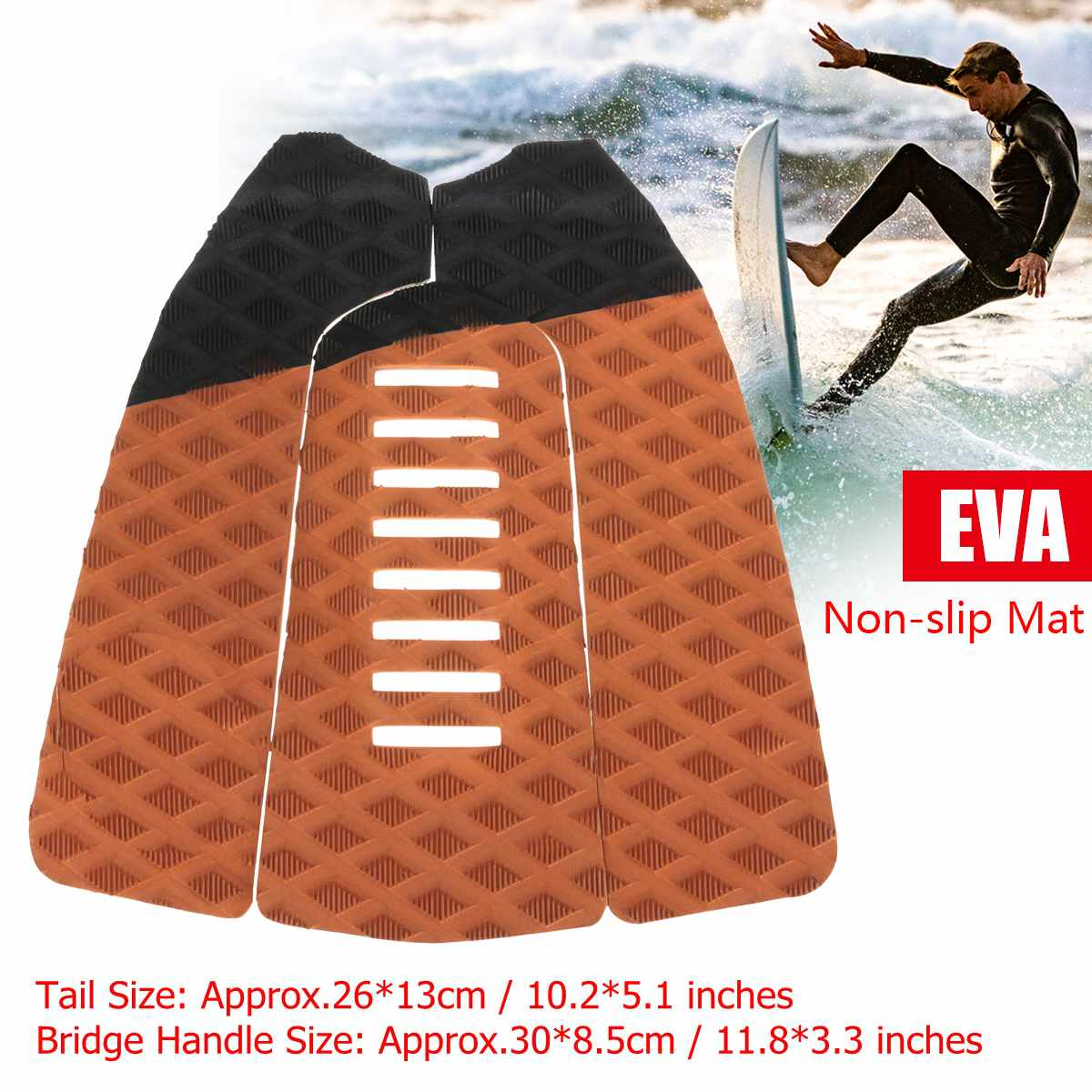 1 Set EVA Surfing Pads Anti-Slip Traction Surfboard Pad Outdoor Water Sports Surfing Deck Grip Mat Anti-shock Surfboard Pads(China)