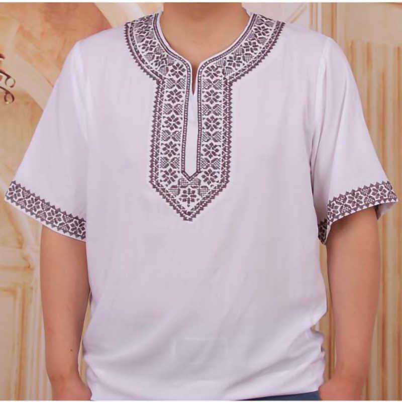 Lehenga Musulmano T-Shirt In Cotone Africano Nigeria uomini Vestiti di stampa Ankara lehenga Magliette e camicette