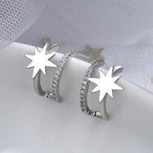 Серьги-гвоздики Todorova геометрической формы серебряного цвета для женщин, микро-технические украшения, женские аксессуары
