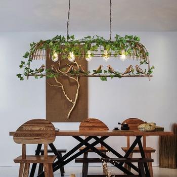 Modern Plant Pendant lights Black/Bronze LED Ceiling Suspended Bird pendant Light Lamp for Hall Kitchen Living Room Bedroom