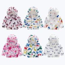 Childrens Zipper Sun Protection Clothing Boy Girl Jacket Hooded Air Conditioning Shirt Breathable Sunscreen Jack