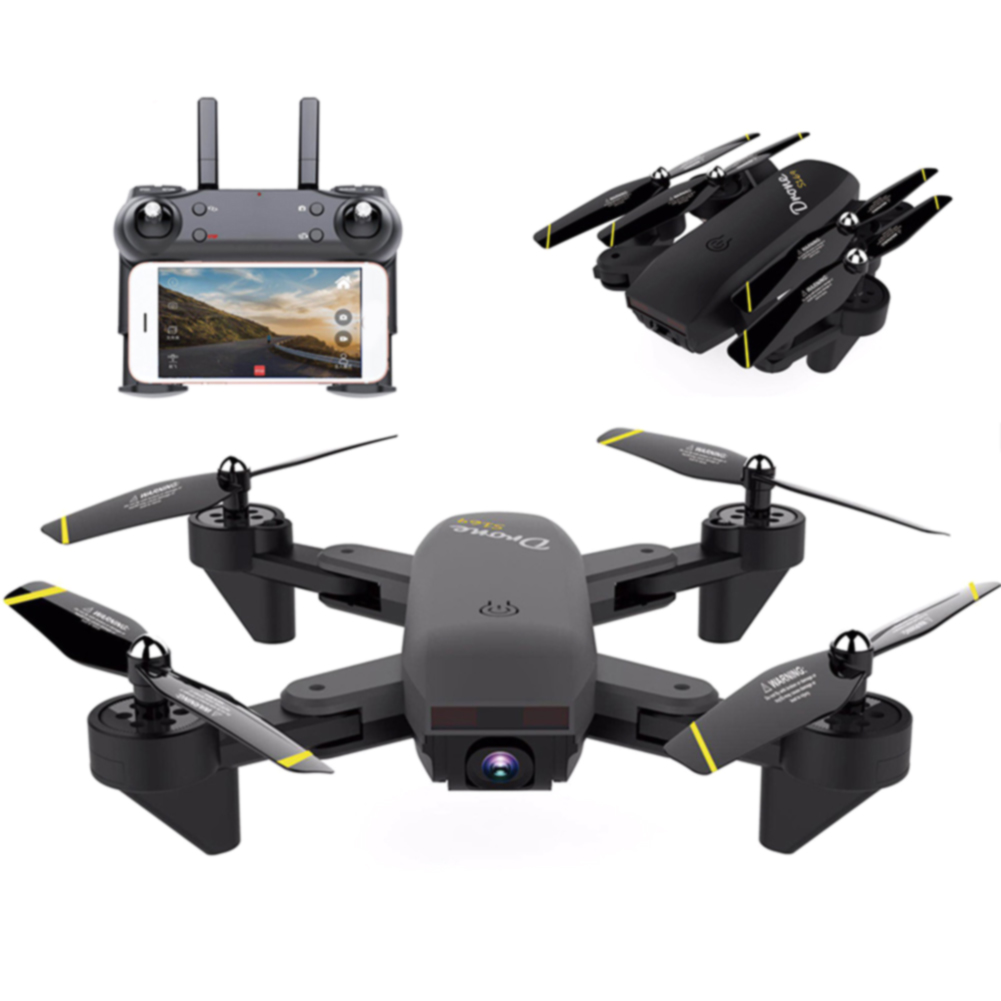 Small Real-time Intelligent Drone WIFI 360 Degree Rolling Aerial Photography Foldable RC Optical Flow Wide Angle Aircraft Led