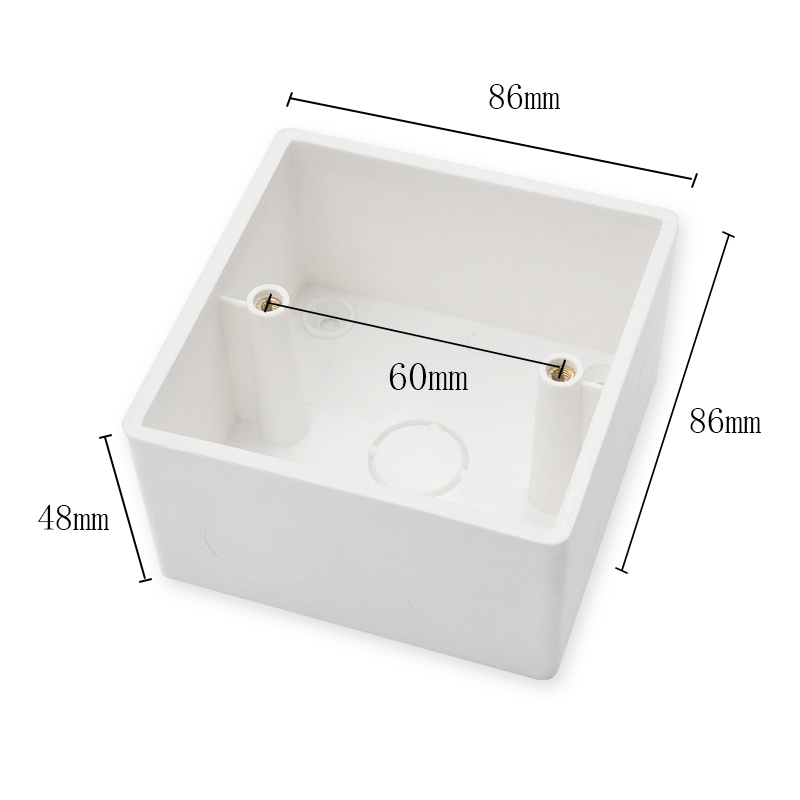 High Quality External Mounting Wall Mount Switch Junction Box 86*86*48mm Thickened For 86 Type Wall Switches And Sockets