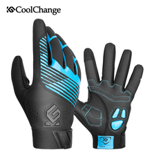 CoolChange Bicycle Gloves Winter Thermal Waterproof Bike Long Finger Touch Screen Wrist Buckle Cycling Men Women