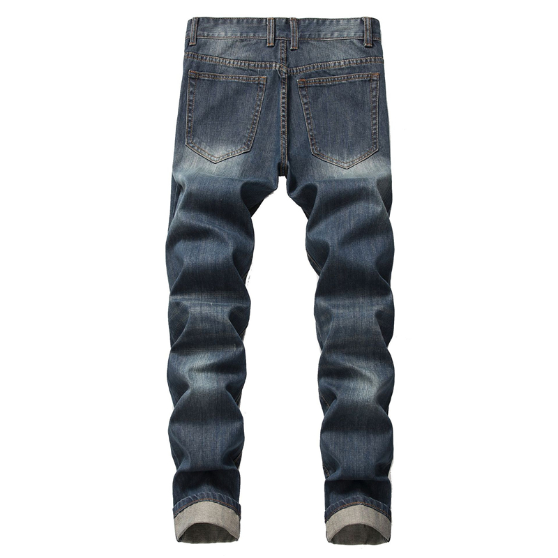 2020 New Fashion Ripped Jeans Men Patchwork Hollow Out Printed Beggar Cropped Pants Man Cowboys Demin Pants Male Dropshipping