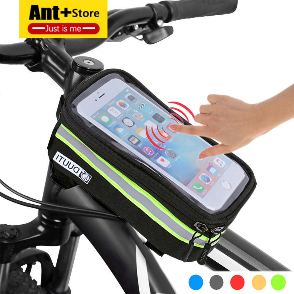 Waterproof Bicycle Bag Nylon Bike Cyling Bag Frame Bags for Bike Cycling AccessoriesCase 4.8'' 5.7'' Bicycle Panniers