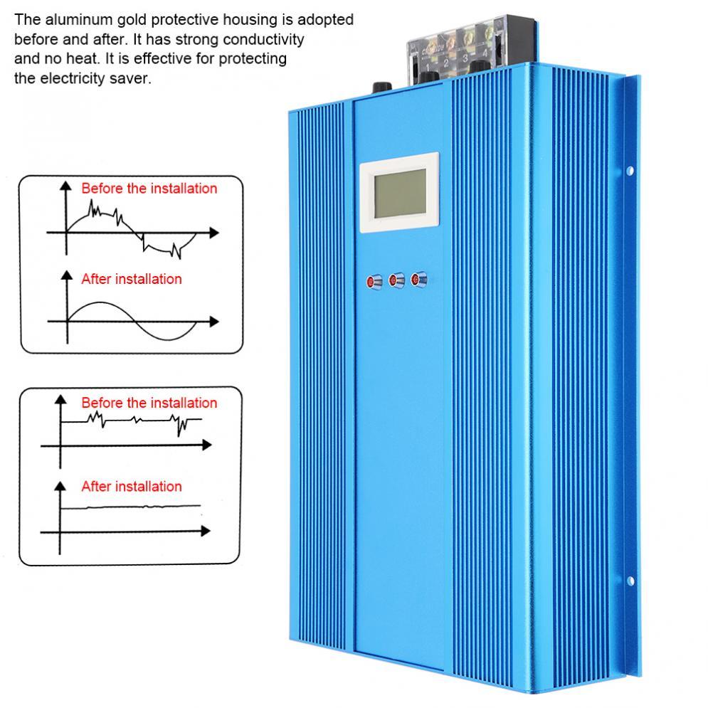 Dispositif d'économie d'électricité industriel Intelligent avec tueur de facture d'électricité de indicateur LED jusqu'à 30% pour l'usine de Restaurant - 2