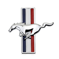 decals rear trunk emblem 1 Pair 3D Metal Mustang Car Side Fender Rear Trunk Emblem Badge Sticker Decals Accessories For Ford Mustang GT Car-styling (5)