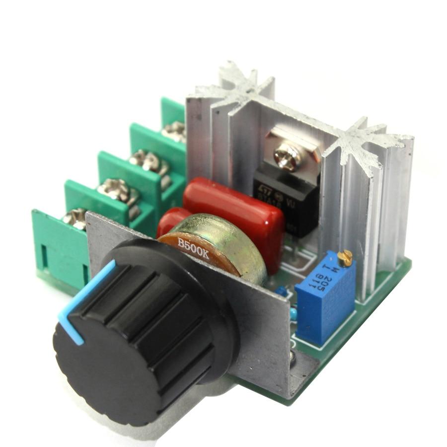 220V 2000 ワットの高速調光コントローラダイマー電子サーモスタットモータコントローラ照明輝度 SCR ボルト調光器