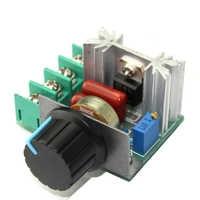 Regulador de Dimmer de velocidad de 220V 2000W regulador de Dimmer termostato electrónico controlador de Motor brillo de iluminación regulador de voltios SCR