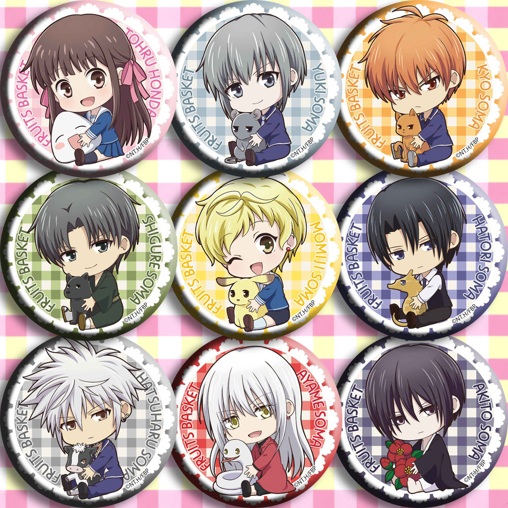 Japan Anime For Fruits Basket Honda Cosplay Badge Cartoon Brooch Pins Collection Backpacks Badges For Bags Button Gifts