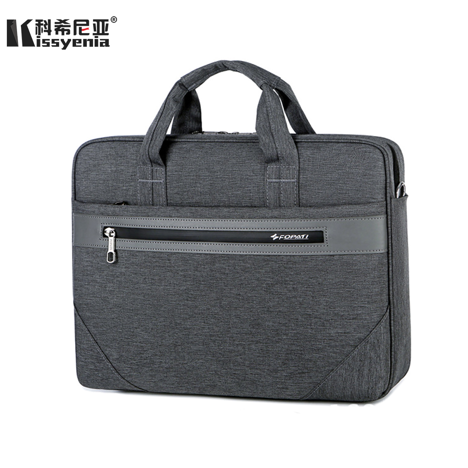 Kissyenia Large Capacity 15inch Laptop Briefcase For Business Travel Solid Anti-theft PC Cover Portable Shockproof Handbag KS001