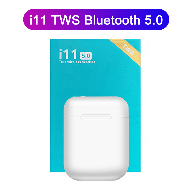 <font><b>i11</b></font> <font><b>tws</b></font> <font><b>Wireless</b></font> <font><b>Earphones</b></font> <font><b>Bluetooth</b></font> <font><b>5.0</b></font> Headphones Headset Touch True Stereo Earbud Handsfree <font><b>Earpiece</b></font> for phone pk i12 <font><b>tws</b></font> i9S image