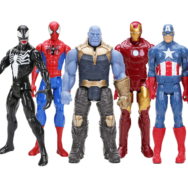 Toy Dolls Marvel-Toys Action-Figure Thanos Wolverine Thor Hulk Avenger Iron-Man 30CM