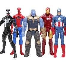 Hasbro juguetes Marvel el vengador final 30CM Super Thor superhéroe Hulk Thanos Wolverine hombre araña Hombre de Hierro figura de acción de juguete muñecas