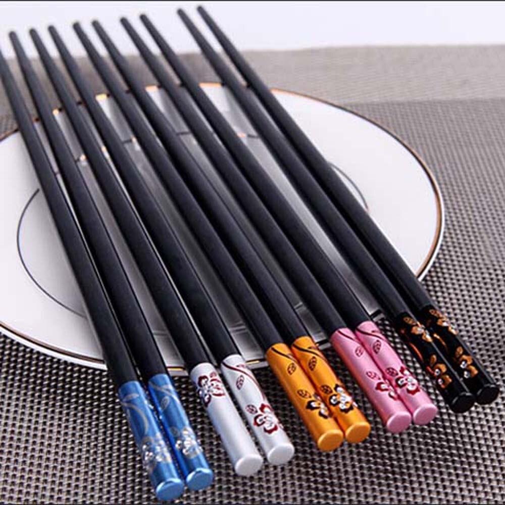 Модные палочки для еды из сплава, китайские палочки для еды, многоразовая посуда, подарочные палочки для еды, суши