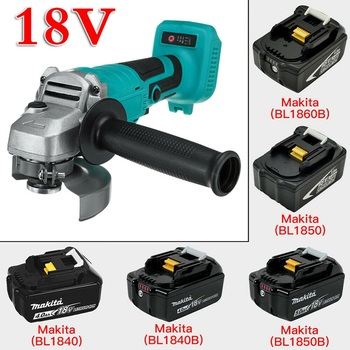 Lithium Battery Brushless Rechargeable Angle Grinder Polisher For Makita Cordless Grinding 18V Li-ion