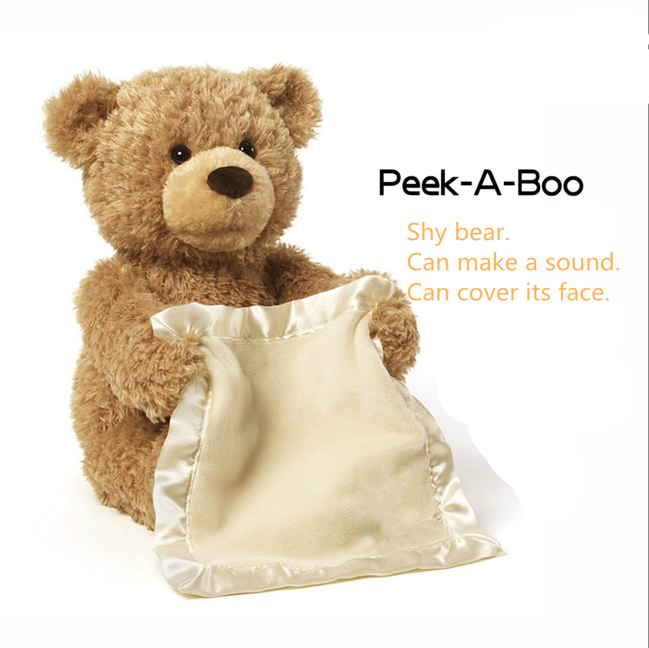 New Style Hot Selling American Peekaboo Bear Talking Will Move The Teddy Bear Electric Voice Over Face Shy Bear Plush Toy