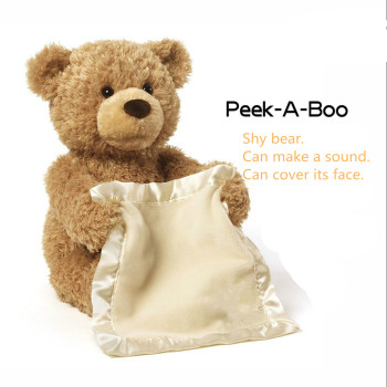 New Style Hot Selling American Peekaboo Bear Talking Will Move The Teddy Bear Electric Voice Over Face Shy Bear Plush Toy Uncategorized Decoration Kid's Toys Stuffed & Plush Toys Toys