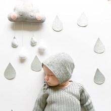 Ins Felt Cloud Raindrop Pendant Wall Hanging Ornaments Nordic Style Kids Room Decorations Baby Tent Nursery Decor Photo Props