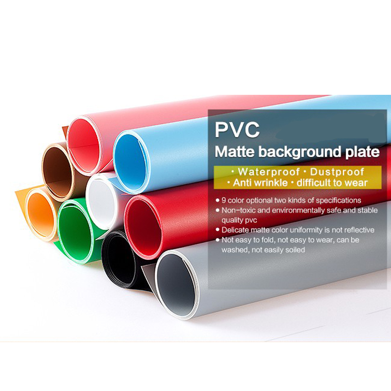 <font><b>120*200</b></font> 100*200cm 68*130cm PVC Matte Glossy Vinyl Background for Photographic Studio Waterproof Washable Pure Backdrops Filter image