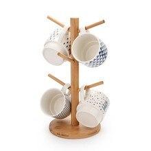 Estante de la taza de té del hogar del sostenedor de bambú del estilo chino estante de la taza de la vendimia japonesa armario de la taza que cuelga respetuoso con el medio ambiente # LR3