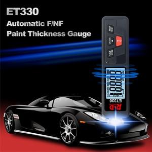R & D ET330 автомобильный толщиномер краски из металла с гальваническим покрытием толщиномер покрытия для автомобиля 0-1500um Fe & NFe измеритель покр...