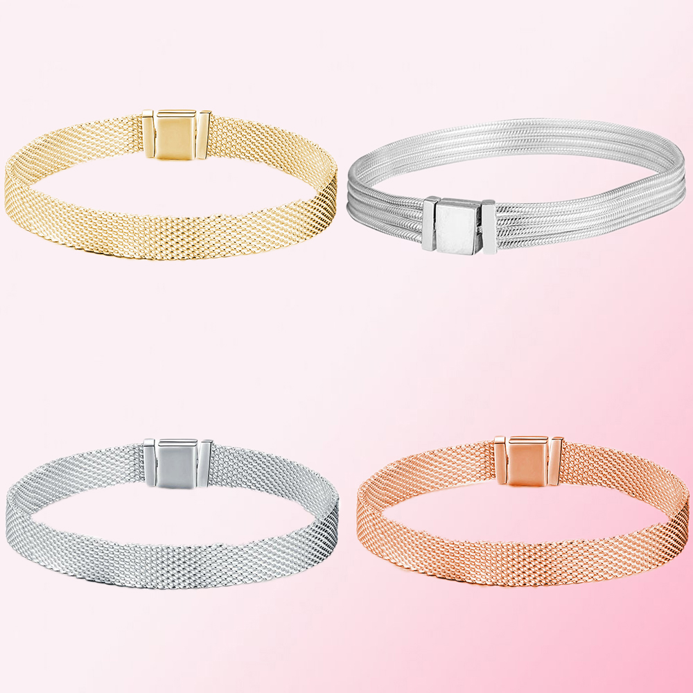 2019 100% argent Sterling 925 classique réflexions Multi serpent chaîne Bracelet femmes charme personnalité bijoux livraison gratuite