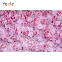 Wedding Party Pink Rose Flower Wall Birthday Baby Portrait Photophy Backdrop Custome Photographic Backgrounds For Photo Studio(China)